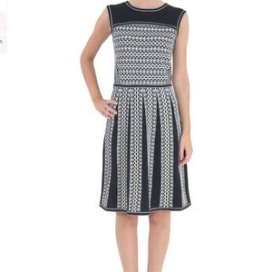 Tory Burch | Black and White Career Sweater Dress